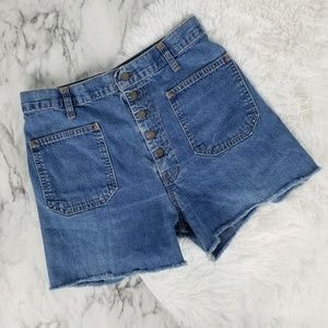 Vintage Levi's high waist white tag jeans shorts